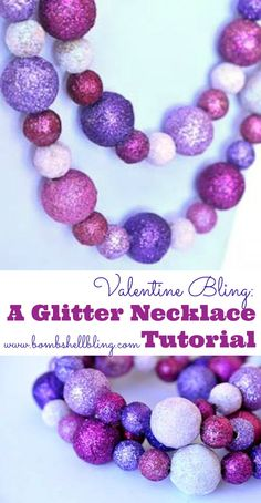 Easy glittered necklace