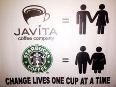 Javita > Starbucks  Just add #JAVITA #coffee www.myjavita.com/javafueled www.facebook.com/javitavictoria
