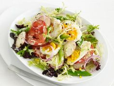 Green Bean and Egg Salad with Goat Cheese Dressing from #FNMag