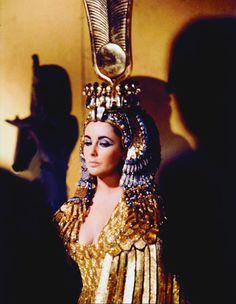 Elizabeth Taylor in costume for Cleopatra (1963)