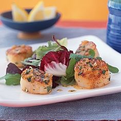 10 Quick and Easy Recipes From Your Pantry   Lemon-Shallot Scallop   CookingLight.com desserts-candies-food