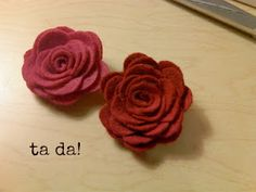 Love those felt flower hair bands? Here's a tutorial for a charming rose that's no-sew and so simple!