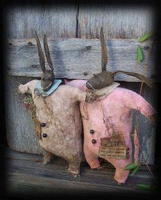 Twin Baby Bunnies Jack and Lulu Bunny Rabbit $8.50