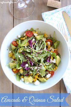 Avocado and Quinoa Salad for #SundaySupper. #recipe