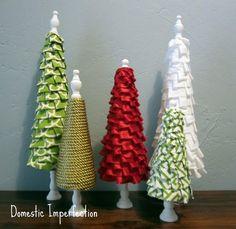 No Sew Ruffle Christmas Trees