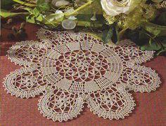 Круглые скатерти крючком со схемами фото 461