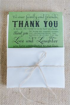 thank you note ideas for wedding <3 from http://www.weddingchicks.com/2012/08/15/enchanted-barn-wedding/