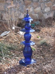 blue glass totem