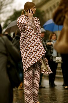 Elena Perminova at Paris Fashion Week. Street Style. #Africanfashion #AfricanClothing #Africanprints #Ethnicprints #Africangirls #africanTradition #BeautifulAfricanGirls #AfricanStyle #AfricanBeads #Gele #Kente #Ankara #Nigerianfashion #Ghanaianfashion #Kenyanfashion #Burundifashion #senegalesefashion #Swahilifashion DK