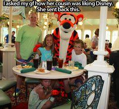 Awww. Poor girl.