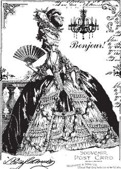 **FREE ViNTaGE DiGiTaL STaMPS**: FREE Vintage Digi Stamp - 18th Century French #Marie Antoinette