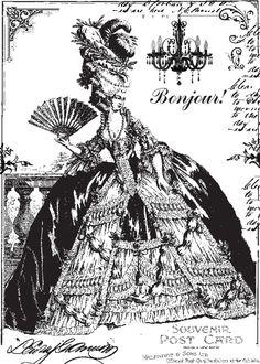 **FREE ViNTaGE DiGiTaL STaMPS**: FREE Vintage Digi Stamp - 18th Century French #Marie Antoinette