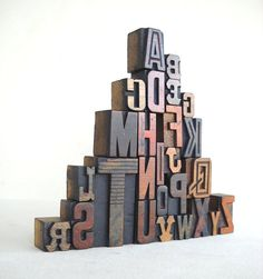 A to Z - Vintage Letterpress Wood Type Collection VG255