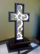 Unity Cross Wedding Sculpture is used instead of the unity candle and is a unique element to a wedding ceremony.