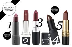 5 Wine Colored Lipsticks | Beauty High #trending #fall wines, lipsticks, wine color lipstick, makeup, product test, wine colored lipstick, beauti experi, hair, beauti high