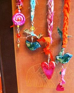 Handmade book markers made by Cindy Dubbers at Crimson Heart Studios.