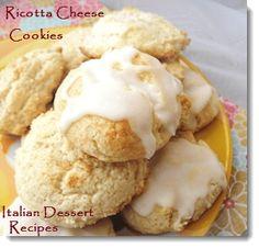 Ricotta Cheese Cookies - With Optional Lemon Glaze Icing