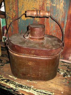 Vintage miners lunch pail
