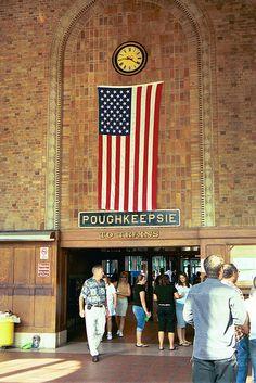 Poughkeepsie train station.