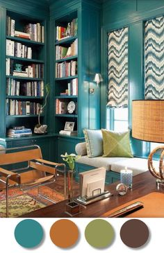 i have this green in dining room, orangish in kitchen, going to do the brown in living room (dark on wall, light the others) so how about the teal in the entry way?