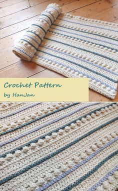 Inspiration :: Nice texture & subtle colors in this blanket designed by Hannah Cross (pattern not free). #crochet #afghan #throw