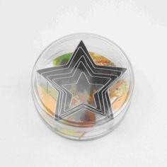 Star metal cookie cutter set