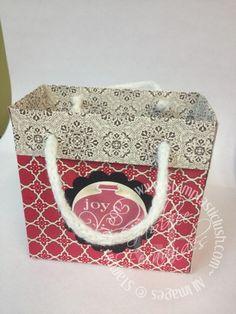 christma card, christma bag, gift bag, stampin up christmas