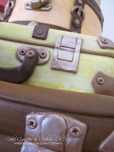 Suitcase cake! suitcas cake, cake inspir, pretti cake, fondant cake, suitcase cakes, event cake, cake cake