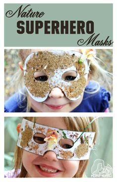 Nature Superhero Masks - printable templates