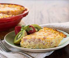 Use leftover ham in this easy quiche recipe.
