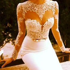 White lace over neck & shoulders as white ink tattoo