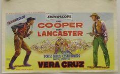 1951 western movie poster Belgian   Vera Cruz - original release belgian movie poster