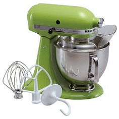 green apple Kitchenaid mixer