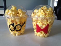 Mr. Peabody and Sherman themed Popcorn/candy Cups- Southern Outdoor Cinema tip for selling more concession at an outdoor movie event.