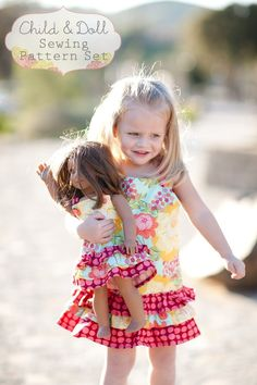 Matching girl & doll dresses.