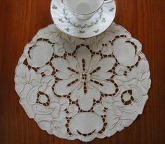 Vintage Richelieu Cutwork Embroidery Doily