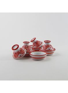 What we're loving now: handmade Tunisian ceramics that are beautiful on the table, like these mini tagines.