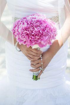 Cute pink #wedding #bouquet