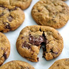 Chewy, hearty oatmeal cookies with dark chocolate and a hint of espresso.