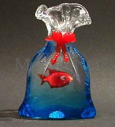Murano glass fish bag