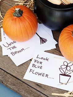 Halloween How-to: Scavenger Hunt Clues