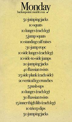Monday-Sunday Workout