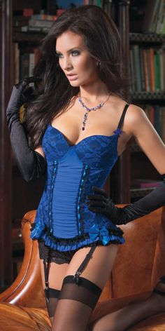 Awesome blue corset!