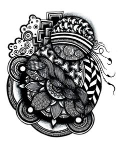 zentangle Art Print/Society 6