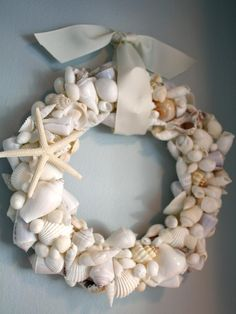 I have lots of seashells we have found on all our trips. I am going to make a wreath out of them with this idea.