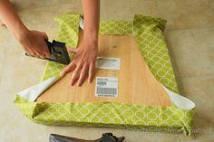 DIY How to upholster a chair...so easy