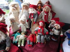 "A wonderful array of Norwegian dolls and ""nisser"""