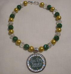 Sic 'em #Baylor Bears Pendant on Beads -- found on Etsy