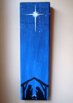 Hand Painted Nativity Scene Christmas Decor by ImaginarySigns