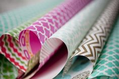 feels so wonderful to wrap your gifts in stunning and colorful patterned gift wrap! (Smock)